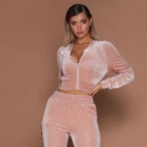 Fashion Nova pink velvet set